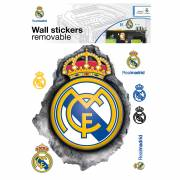 Muursticker Real Madrid LOGO 3D