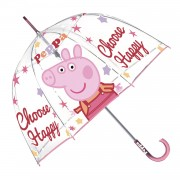 Transparante  Paraplu Peppa Pig - Choose Happy