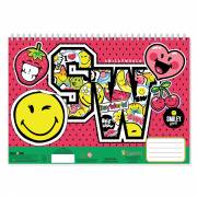 Smiley Schetsboek A4 + Stencils & Stickers