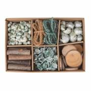 Schelp Decoratie Box Nebil, 6 dlg.