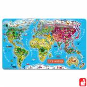 Janod Magnetische Puzzel World-English