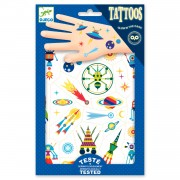 Djeco Tattoos - Ruimte Glow in the Dark