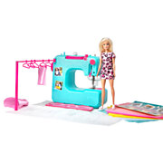 Barbie Naaimachine met Barbie Pop