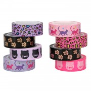 TOPModel Plakband met Print Cat Mini, set van 4