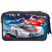 Monster Cars 3-vaks Etui Gevuld met LED