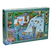 Cartoon Legpuzzel 1.000st - Niagara Watervallen