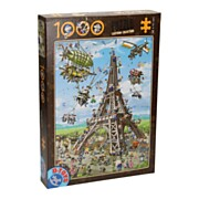 Cartoon Legpuzzel 1.000st - Eiffeltoren