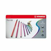 STABILO Pen 68 in Metalen Doos, 50st.