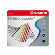 STABILO Aquacolor Metalen Doos, 24st.