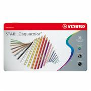 STABILO Aquacolor Metalen Doos, 36st.