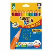 BIC Kids ECOlutions Evolution, 14 + 4st. gratis