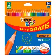 BIC Kids ECOlutions Evolution, 18 + 6st. gratis