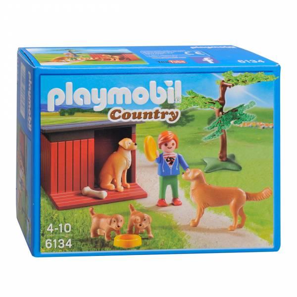 Playmobil 6134 Golden Retrievers met Puppies