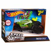Hot Wheels Speed Winders Twisted Cycle Motor - Zwart