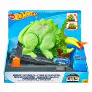 Hot Wheels City - Verpletterende Triceratops Speelset