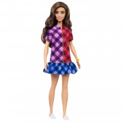 Barbie Fashionista Pop - Geruite Jurk