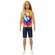 Barbie Ken Fashionistas Pop in Tie-and-dyeshirt