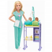 Barbie Kinderarts Poppen en Speelset