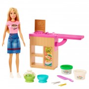 Barbie Blond Noedels Bar Pop en Speelset