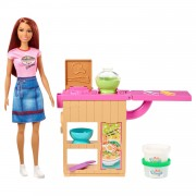 Barbie Bruin Noedels Bar Pop en Speelset