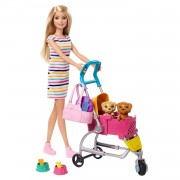 Barbie Pop Loop en Speel Pup - Blond Haar