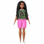 Barbie Fashionistas Pop - Neon Luipaard T-shirt en Shorts