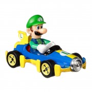 Hot Wheels Mario Kart Voertuig - Luigi