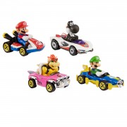 Hot Wheels Mario Kart Die-cast, 4st.