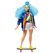 Barbie Extra Pop - Blue Afro Hair