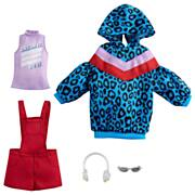 Barbie Fashion 2-Pack Overall Romper Leopard Sweater Dress