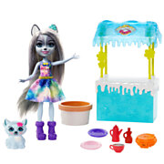 Enchantimals Chocoladestand Hawna Husky Slagroom Poppen