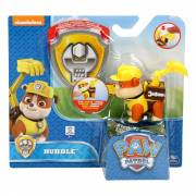 Paw Patrol Pup & Badge - Rubble