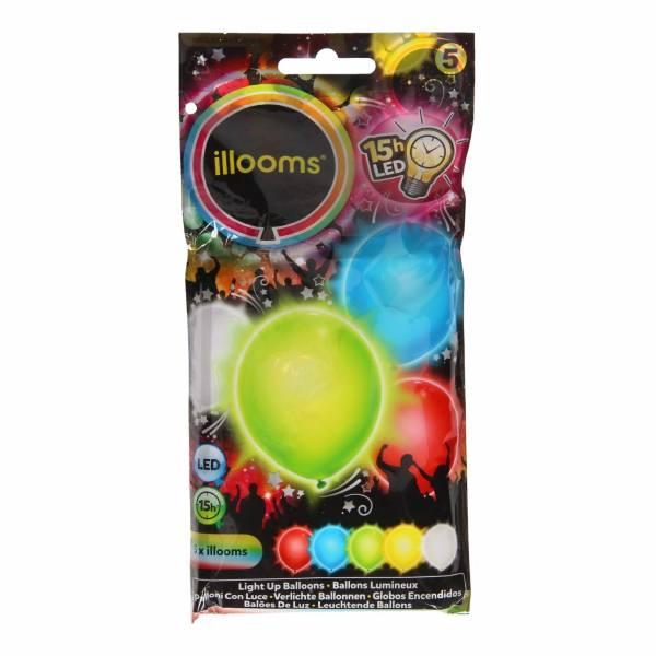 Illooms LED Ballonnen Assorti, 5st.