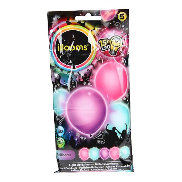 Illooms LED Ballonnen Meisje, 5st.
