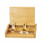 Houten Reisspel Shut the Box