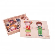 Classic World Houten Aankleedpuzzel Outfits, 26st.