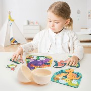 Lobbes-Dino Puzzels in Ei (3 puzzels van 6 stukjes)-aanbieding