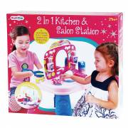 Playgo Keuken en Kaptafel, 2-in-1