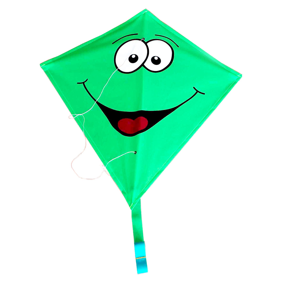 Rhombus Vlieger Diamond Smiley - Groen