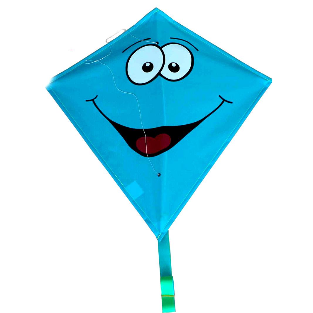 rhombus vlieger diamond smiley blauw online kopen lobbes speelgoedrhombus vlieger diamond smiley blauw