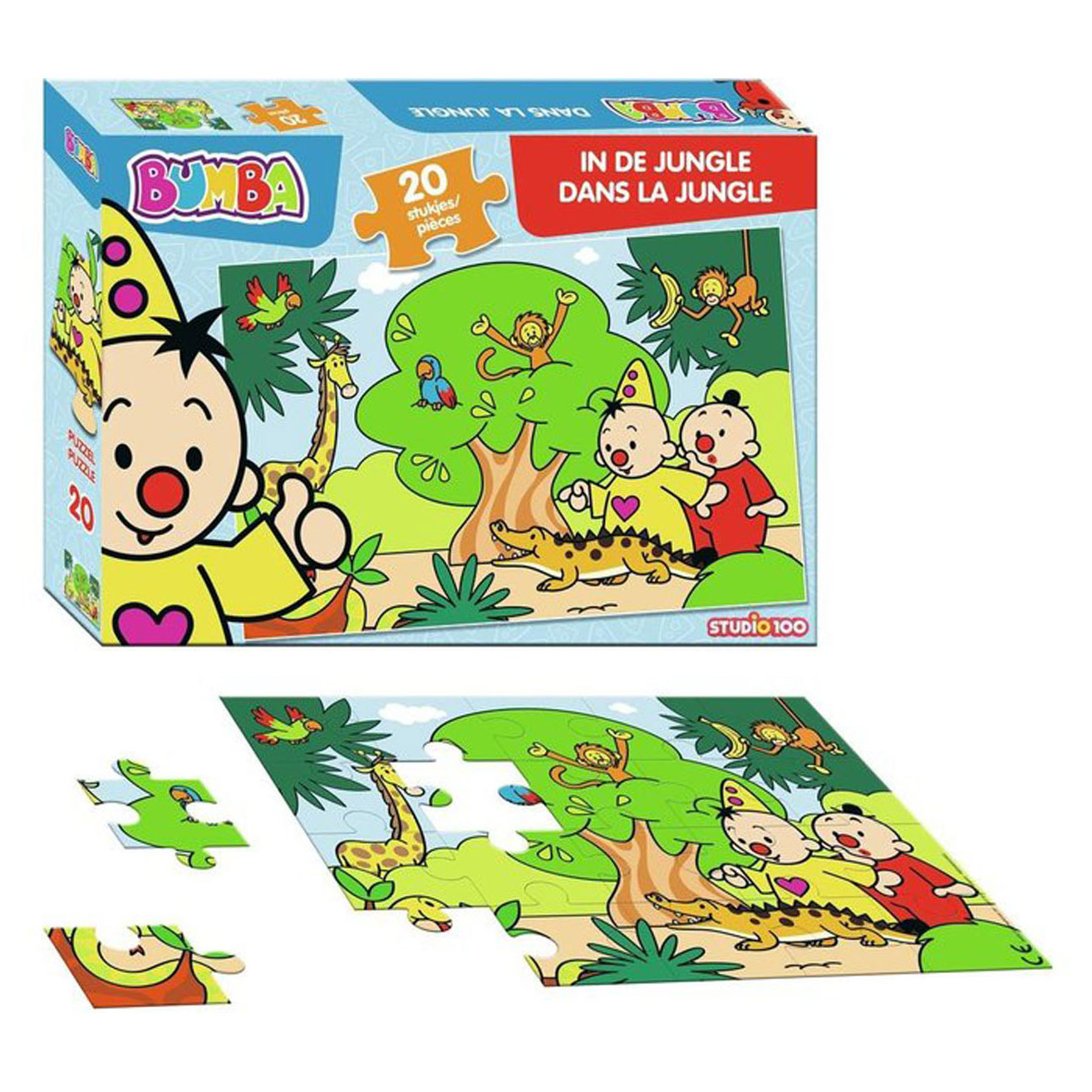 Bumba Puzzel - In de Jungle, 20st.