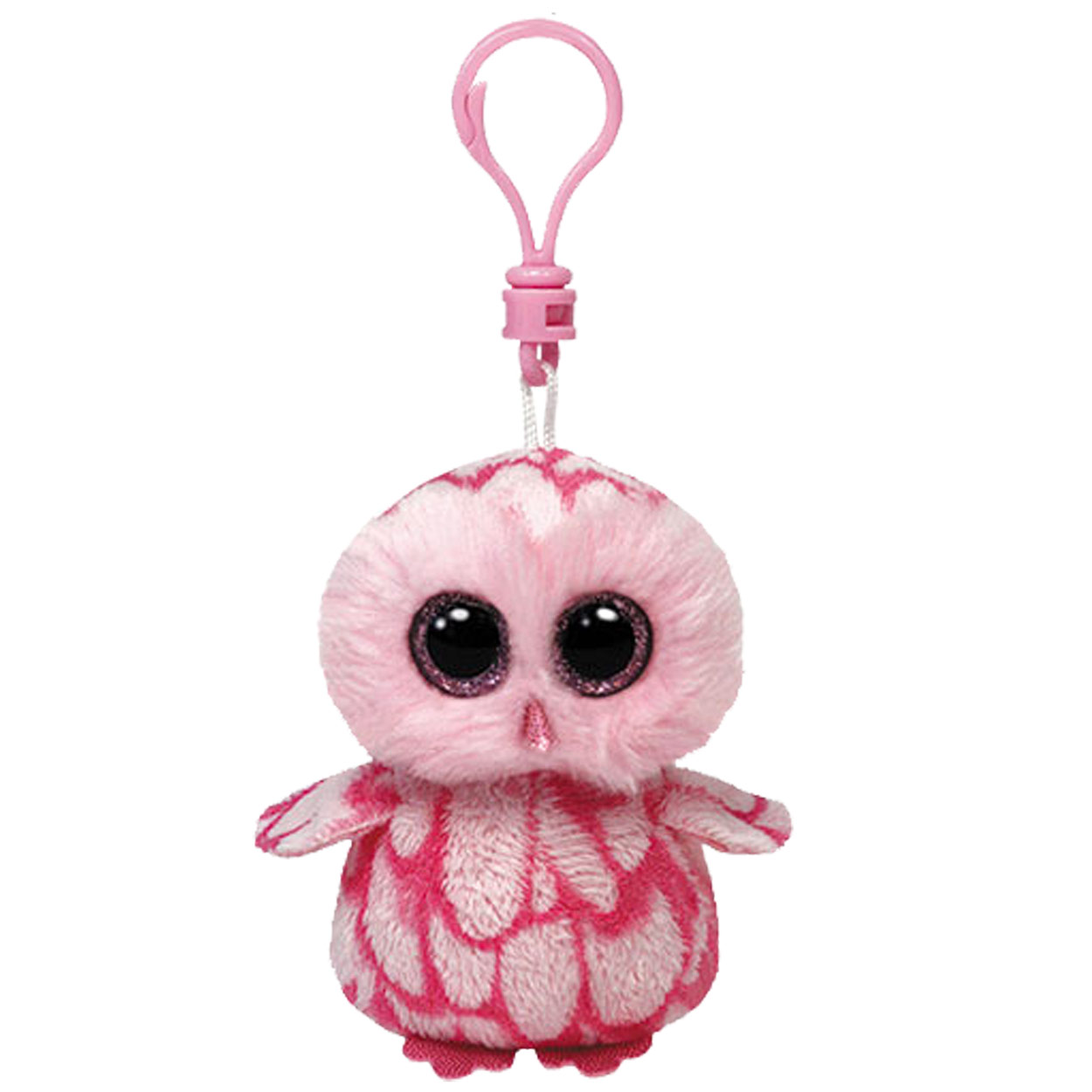 Ty Beanie Boo Sleutelhanger Uil - Pinky