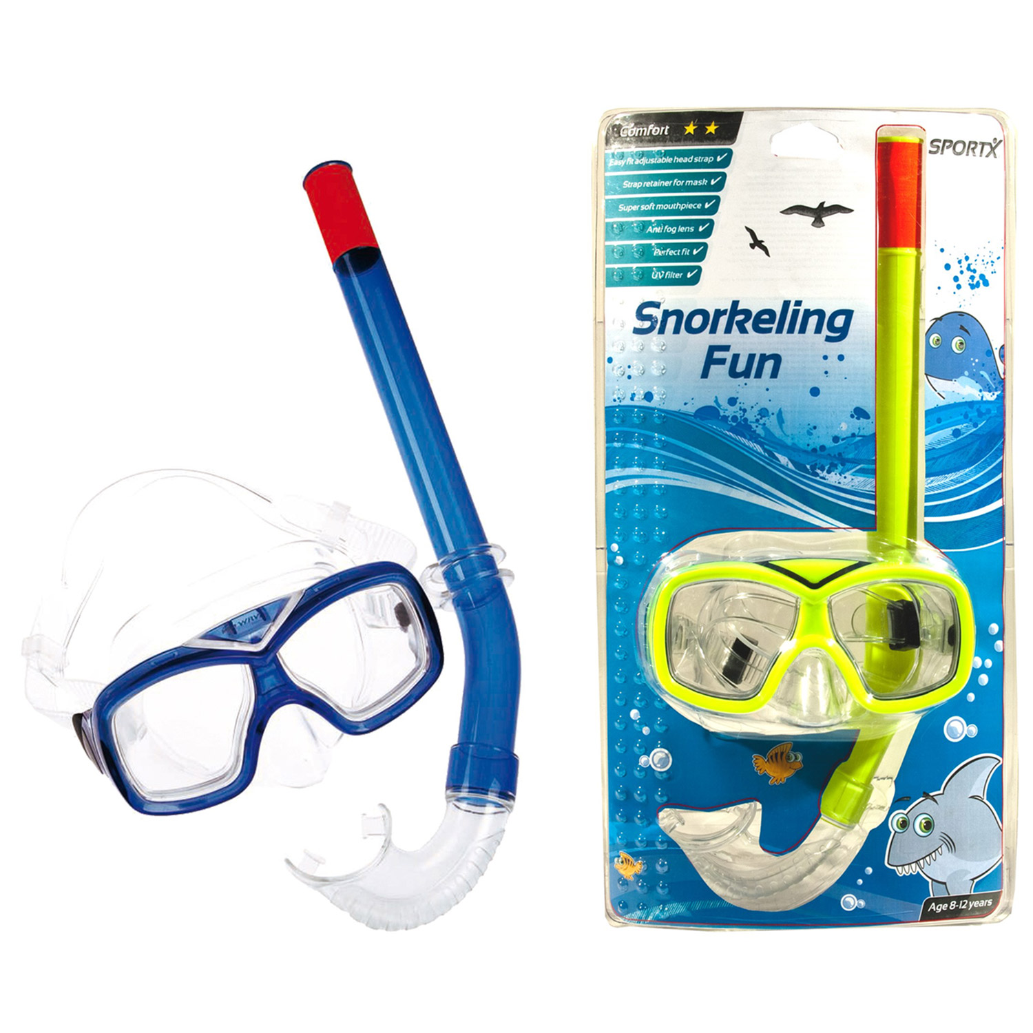 SportX Junior Snorkelset