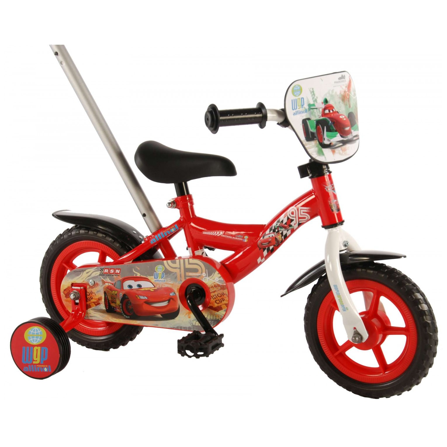 Disney Cars Fiets - 10 inch - Rood
