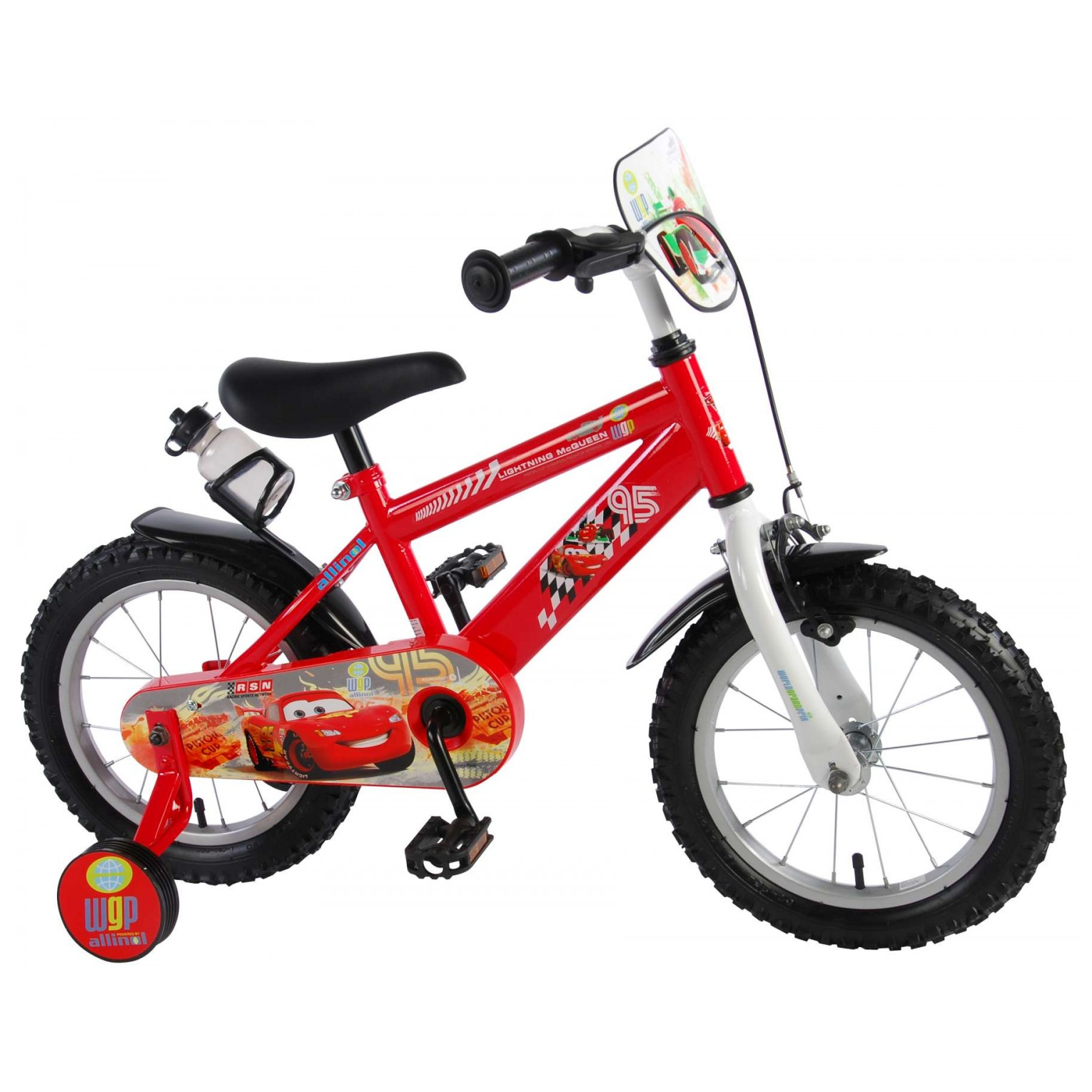 Disney Cars Fiets - 14 inch - Rood