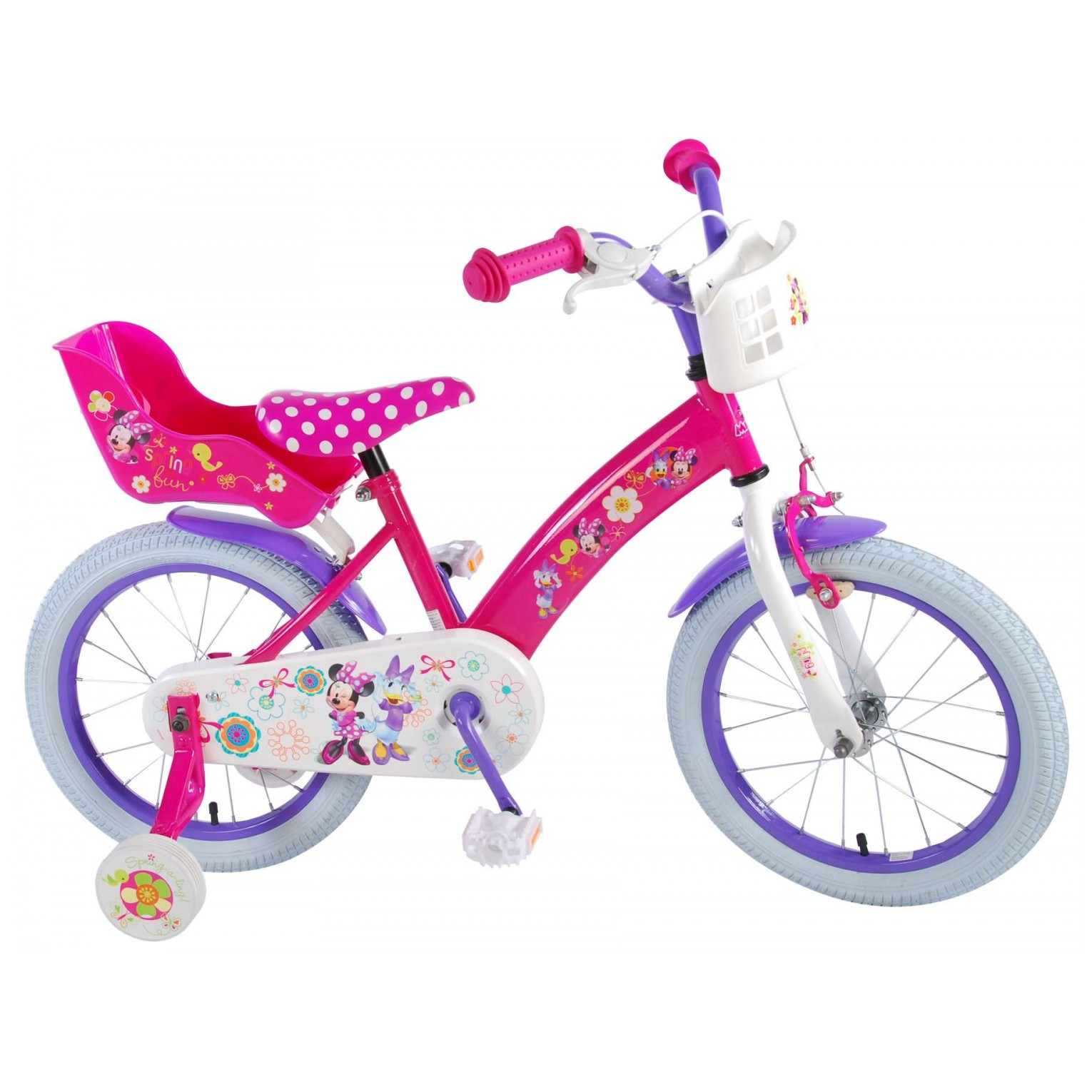 Disney Minnie Bow-Tique Fiets - 16 inch - Roze