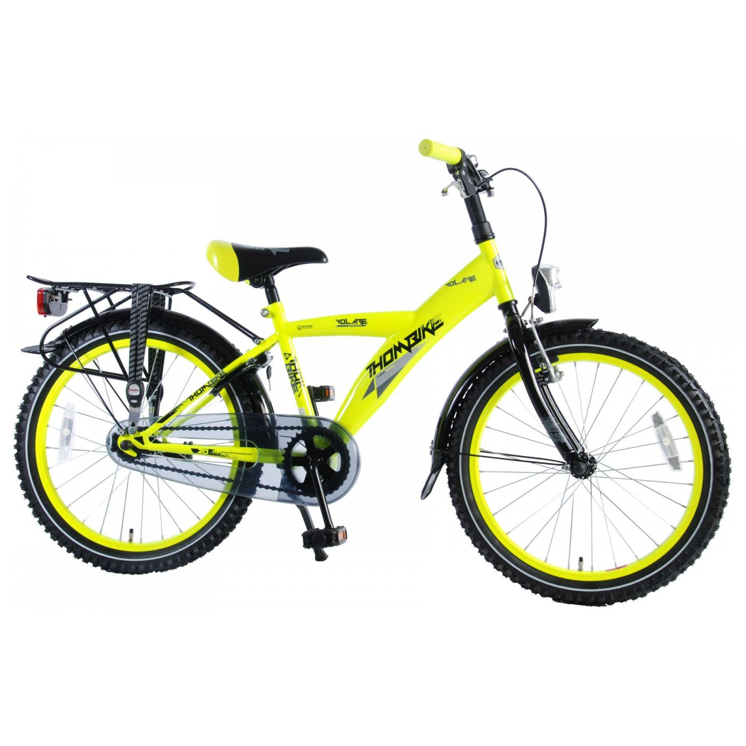Volare Thombike City Fiets - 20 inch - Neon Geel