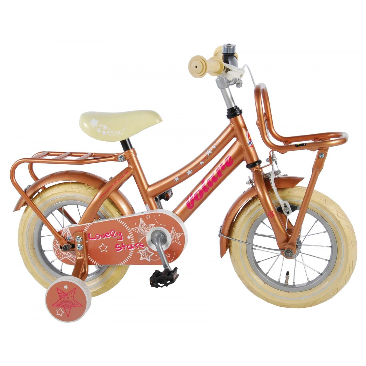 Volare Lovely Stars Fiets - 12 inch - Goud
