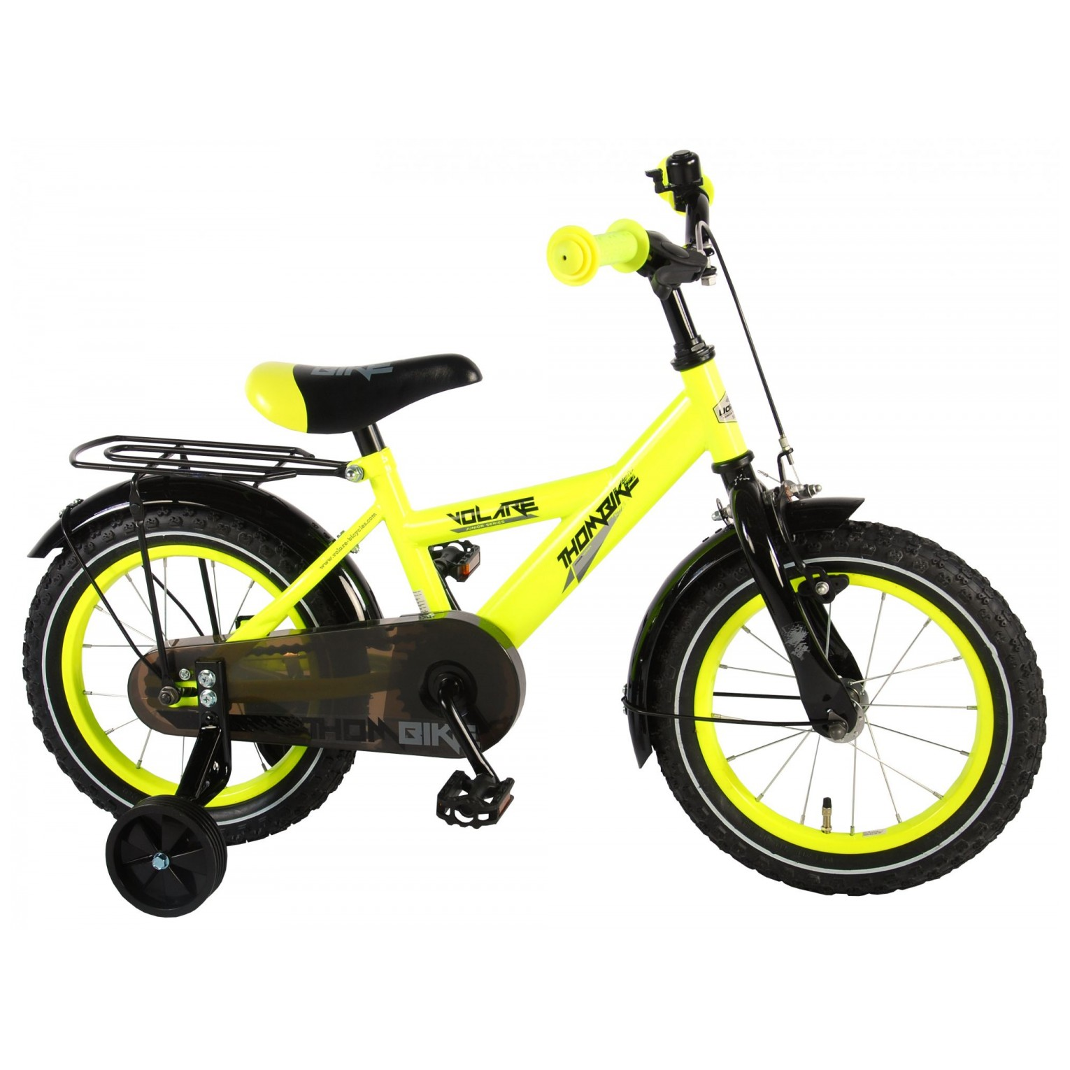 Volare Thombike Fiets - 14 inch - Neon Geel