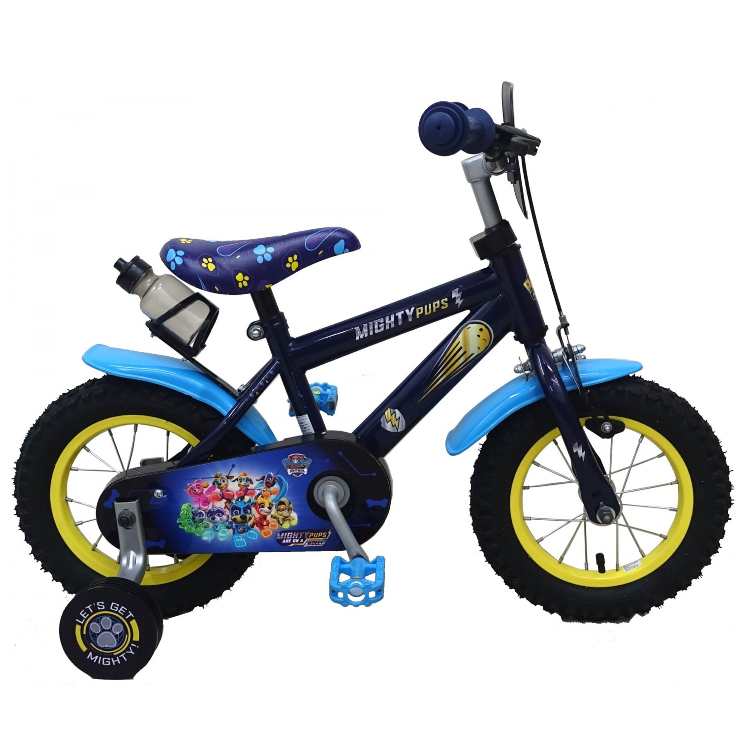 Paw Patrol Mighty Pups Fiets - 12 inch - Blauw